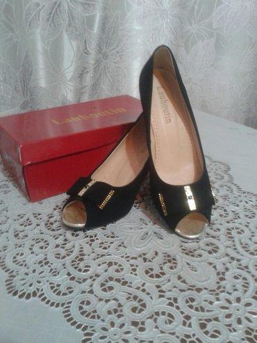 Замшевые туфли, размер 38,на ноге очень в Бишкек