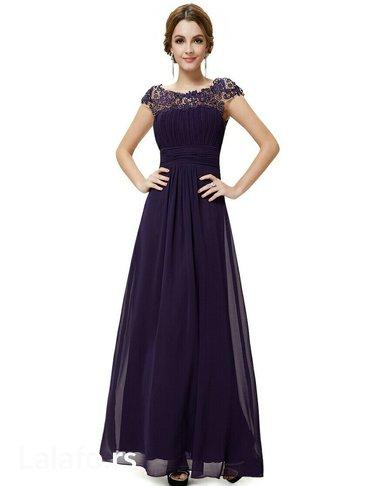 Haljina st - Srbija: Ljubicasta haljina, velicina 44. Samo jednom obucena, bez ostecenja, p