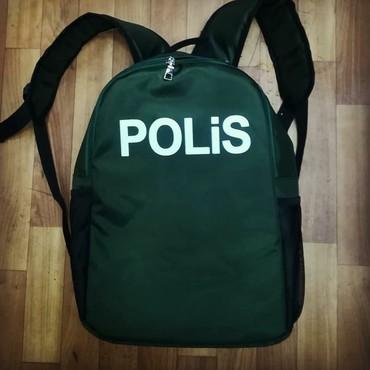Bakı şəhərində Polis çantaları,wekildeki çantadır,göründüyü kimi zuqzaqdır.