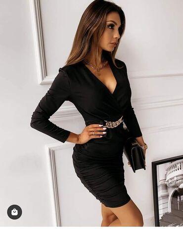 Mini elegantna haljina sa kaiš snalom NOVO SA ETIKETOM!* Nova