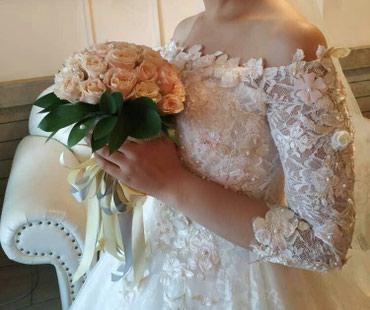 Шикарное свадебное платье. Было в Бишкек