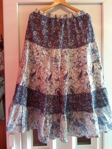 Suknja za leto,prelep materijal I boje ,plavo belo - Sombor