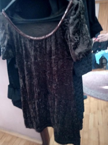 Плишана памучна хаљина бр л до колена - Crvenka