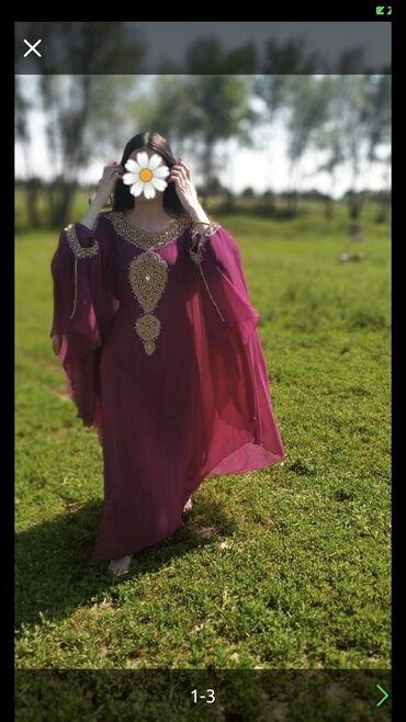 летнее платье трапеция в Кыргызстан: Продаю платье абайку, ручная работа