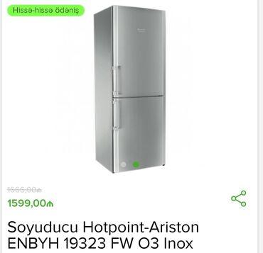 Yeni İki kameralı Gümüşü soyuducu Hotpoint Ariston