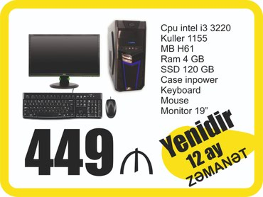 Bakı şəhərində Cpu Intel Core I3 3220 3.30GHz 3mb Cache