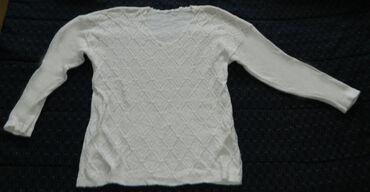 Personalni proizvodi - Cacak: Pamučna bela bluza dugi rukav veličina L dužina 67cm, dužina unutrašnj
