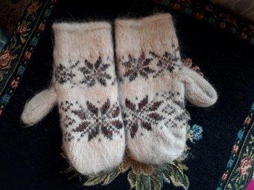 Зимние перчатки , шерсть. состояние отличное. для детей от 5 лет. в Бишкек