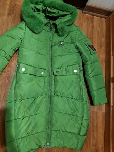 Зимняя куртка - пальто,очень теплая,ростовка 158, в носке 1 месяц. в Бишкек