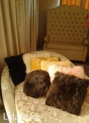 Подушки меховые и квадратные и круглые разные расцветки. Цена за 1шт в Бишкек