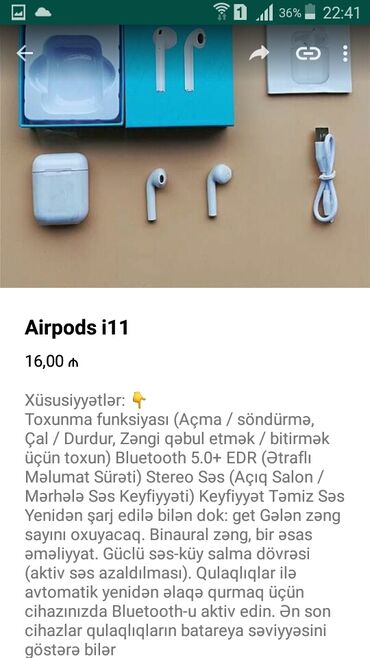 Airpods p30 max - Azərbaycan: Airpods i11