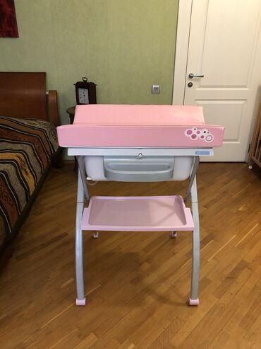 ванночки стульчики для купания в Азербайджан: Ванночка с пеленальным матрасом для купания новорождённого. В идеально