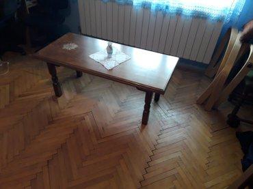 Unikatni club sto komplet restauriran, cisto drvo . farban visoko - Beograd