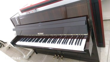 Bakı şəhərində Pianino petrof - 3 pedallı, kiçik ölçüdə, tünd şabalıdı