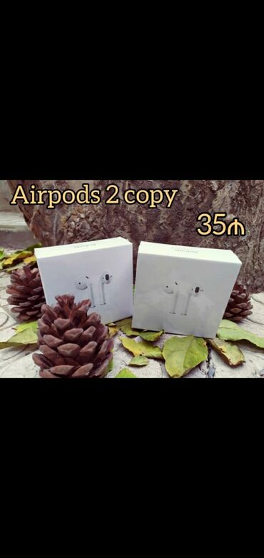 Airpods 2 Copy.Əla Səsə Malik Airpodslar.100%Keyfiyyətlidir.Əsl