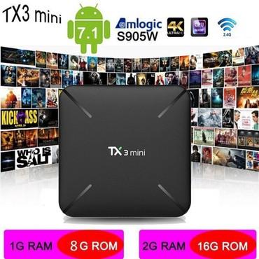 box - Azərbaycan: Android Smart box TX3 mini model. 1 gb ram. 8 gb yaddas -65 azn2 gb