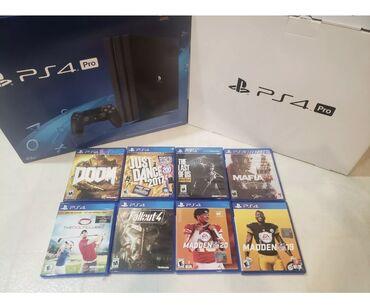 best playstation в Кыргызстан: PS 4 Pro 1TB в комплект 8 игр