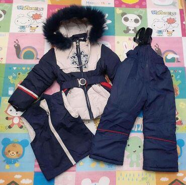 лыжный костюм бишкек цены in Кыргызстан | ВЕРХНЯЯ ОДЕЖДА: Новый зимний костюм на девочку 3-4 года. Одевали только жилетку пару р