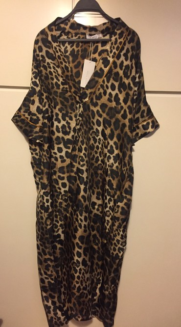 Zara Home Beach wear Resort Collection . Leopard Μευαξωτό καφτάνι . Ελ