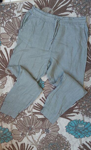 Lanene pantalone - Srbija: ALBERTA DELLA lanenen pantaloneDuzina 88,5cmStruk 35-46cmButine