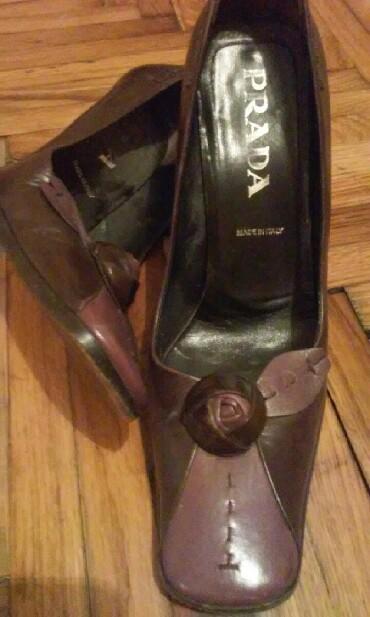 Prada cipele original - Srbija: Brendirane Prada cipele od fine koze.Konbinacija tamno bordo i