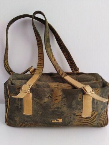 Mona torba - Srbija: Jelena torba od prirodne kože i debljeg kvalitetnog platna,tri velike