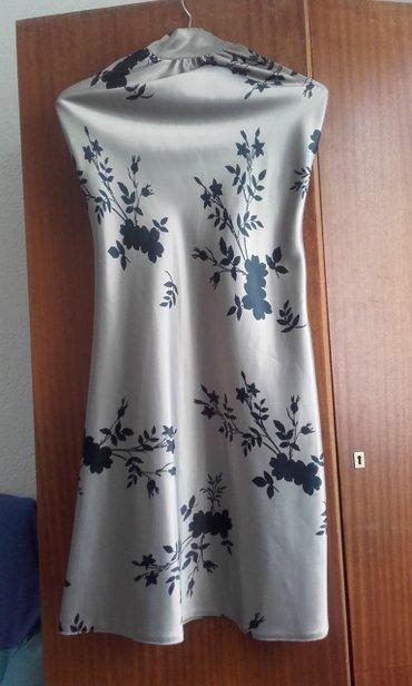TRi haljine: crno -siva,jednom obucena,br.38,vezuje se oko vrata u - Trstenik