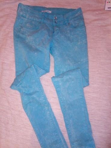 Zenske Mini Blue jeans, skinny plave pantalone, odgovaraju za m, - Belgrade