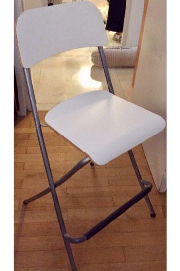 Λευκό stool για κουζίνα ή μπαρ, make up, σε Rest of Attica