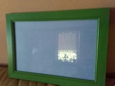 Slike | Sombor: Ram za slike veliki drveni novoooo 35x25 prelepa zelena