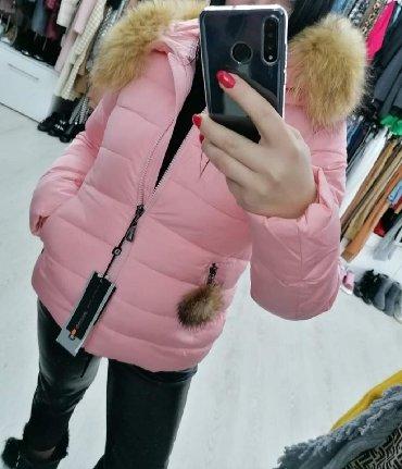 Vrhunska jakna sa prirodnim krznom vel S M Novo - Batajnica