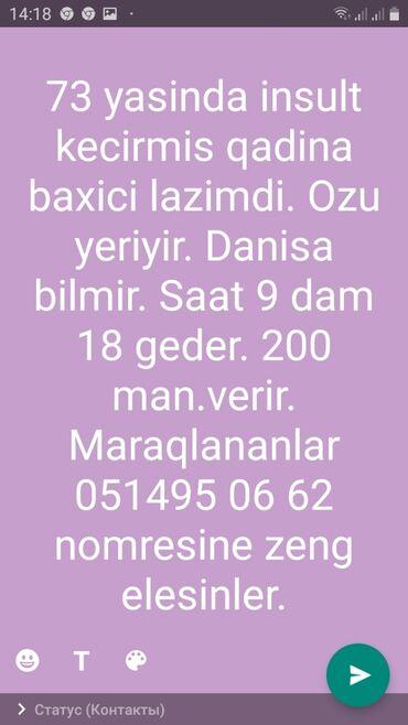 Xesteye baxici axtariram - Azərbaycan: Baxici axtariq 200 azne Pasyolkada qaliriq