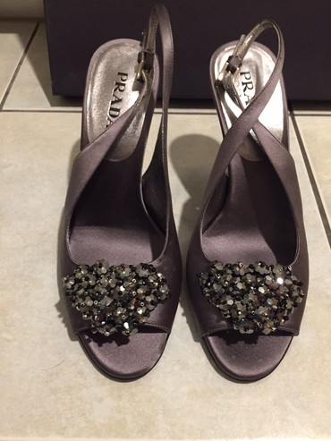 Prada peep toe heels with jewel decoration . Size 37,5 Brand new σε Rest of Attica