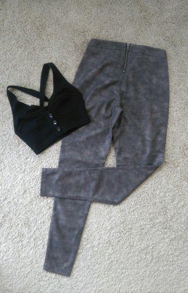 Sive mat Skinny 👑 optik kožne pantalone 👑   in Novi Sad