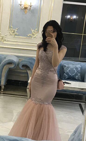 шикарные платья для полных в Кыргызстан: Шикарное платье рыбка,нежно- розового цвета . Было сшито на заказ