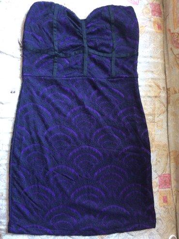 Ljubicasta top haljinica velicina L sa cipkom ..nenosena - Paracin