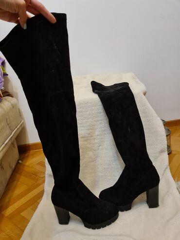 Sako crne boje - Srbija: Čizme crne boje,nošene samo par puta, broj 39
