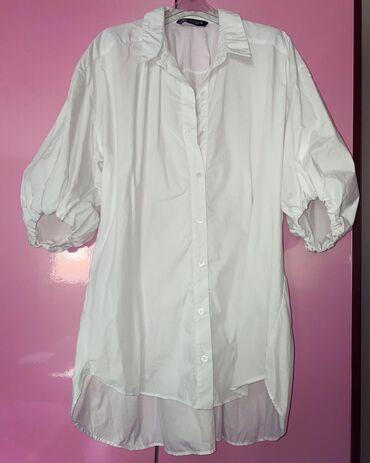 Bela kosulja sa - Srbija: Zara bela kosulja od pamuka sa likrom  Kosulja je kupljena i nije nose