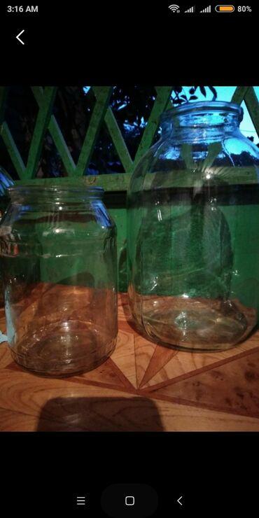 Кухонные принадлежности в Кара-Балта: Срочно продаю стеклянные банки 1л. и 3л.Цена договорная.Г. Кара-Балта