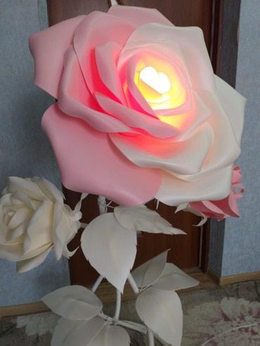 Роза- торшер из изолона. в Лебединовка