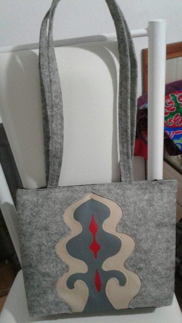 4f8aa94a5ce7 Сумка из фетра с комбинированным орнаментом из кожи в Бишкек - фото 2