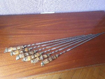 Nabor shompurov ( şiş ) hədiyyələrini 6 heyvan modeli Natural steel 3m