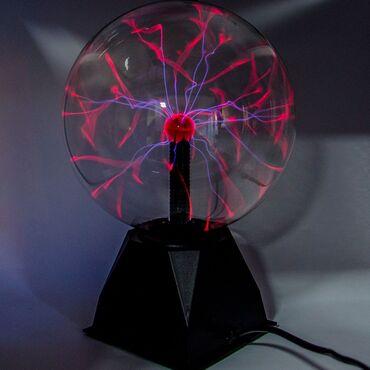 Teslina kugla.Karakteristike: staklena plazma elektrostatička Kugla