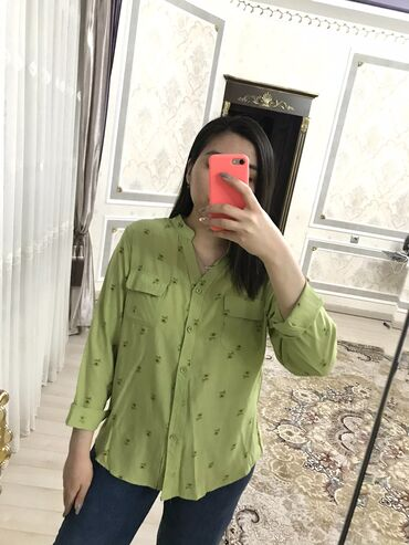 розовый тренч в Кыргызстан: Тонкие рубашки разных цветов . Размер стандарт на 42-44