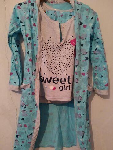 Пижама тройка для кормящих тоже подойдут размер 44 новое продам за 400