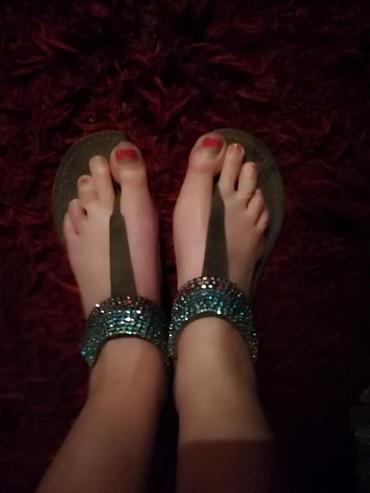Bata ravne japanke sandale kožne - Pancevo