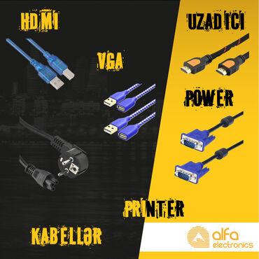 аккумулятор usb в Азербайджан: Kabellər (Usb, Vga, Hdmi, Extension, Printer, Power)Bütün kabellər