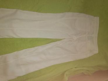Bele-siroke-pantalone - Srbija: Bele lanene pantalone