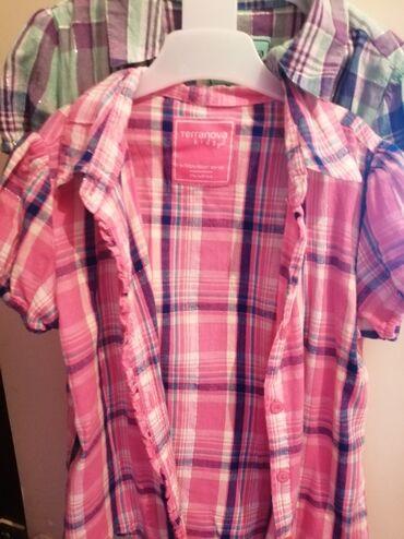 Dečija odeća i obuća - Gornji Milanovac: TerraNova košuljice za devojcice. Dve za 600din, po jednom obučene