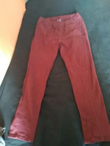 Farmerki pantalone - Srbija: BLUE MOTION pantalone/farmerke, tamno bordo boje, na slikama se boja